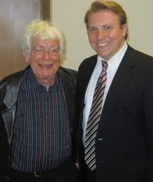 Helmuth Rilling pictured with Gene Stenger