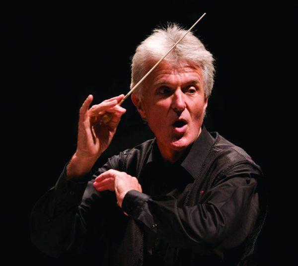 Simon Carrington conducting Promotional Photo
