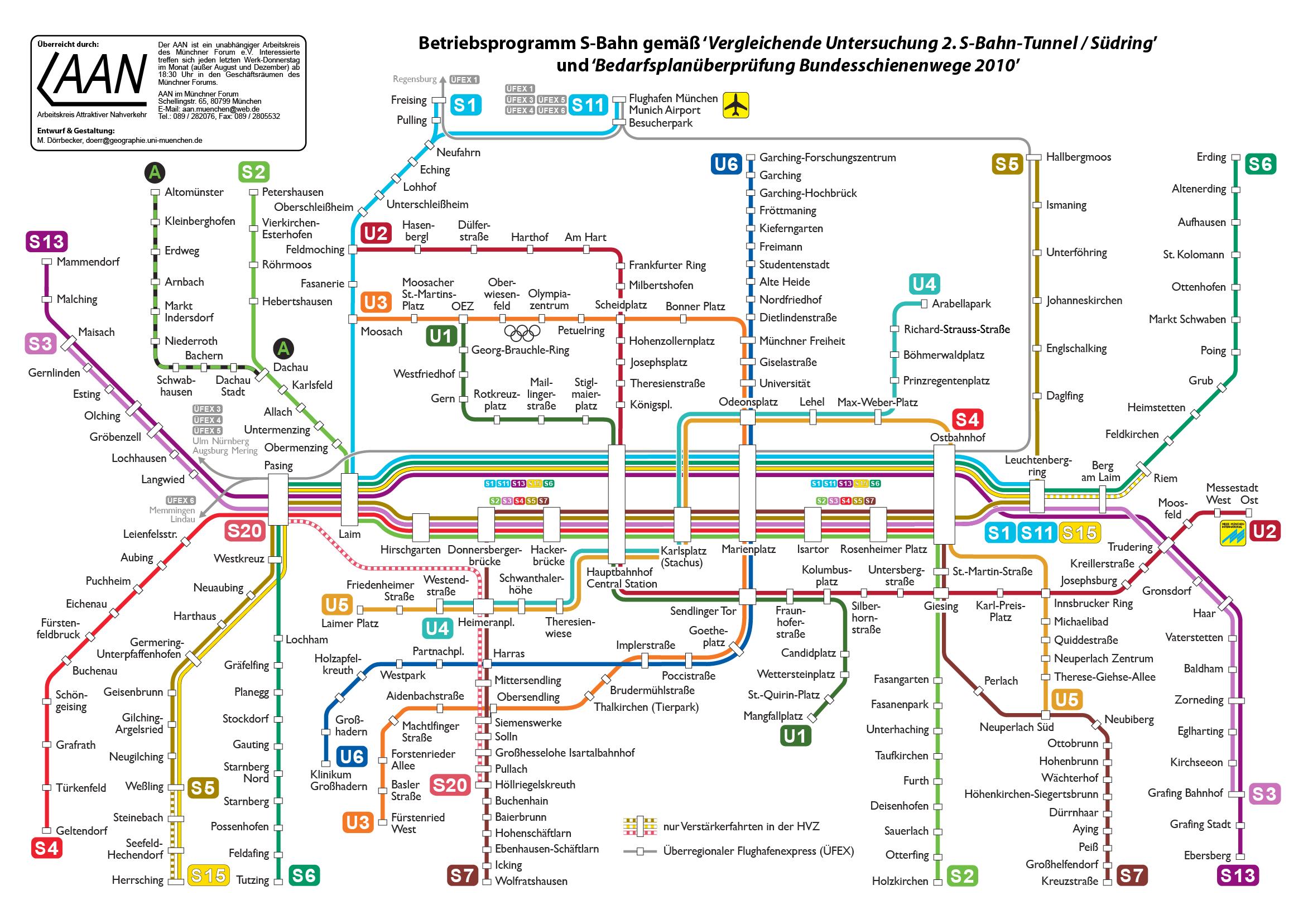 Muenchen S Bahn Mit Zweitem Tunnel map