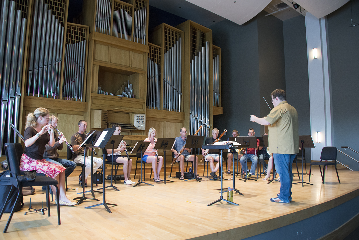 CSU faculty chamber of wind rehearsing