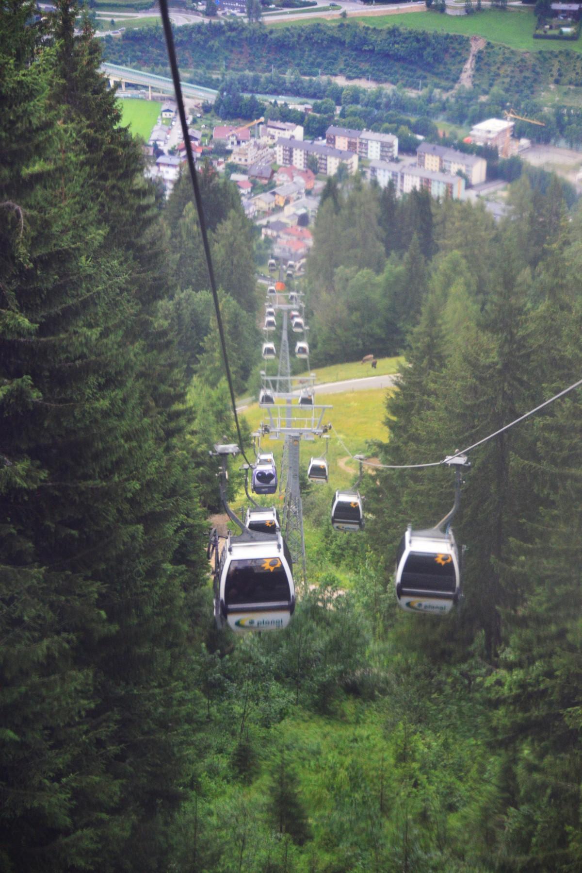 gondola ride down the mountain