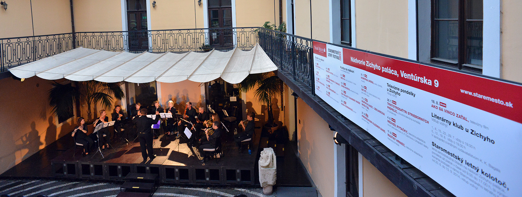 Concert in courtyard