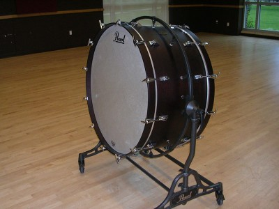 "Pictured Pearl Phil 36"" Mahogany Bass Drums"