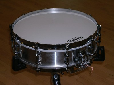 "Pictured Pearl Philharmonic Aluminum 4"" Snare Drum"