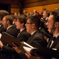Four CSU choirs, including the Men's Chorus, participate in the annual Holiday Spectacular concert.