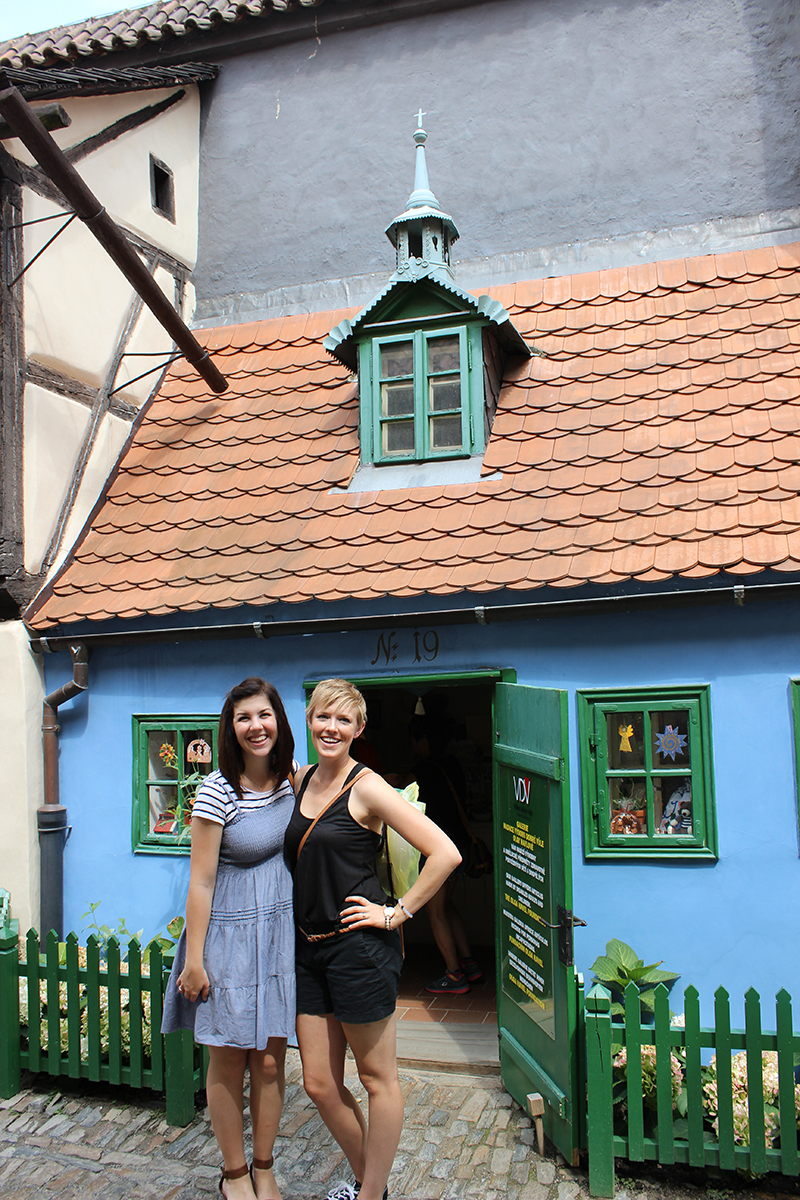 Jessica Lauer and Stacey Miller pictured in Hradcany, Prague.