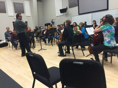 Turtle Island String Quartet gives a master class at CSU. Photo courtesy of Lara Mitofsky Neuss.