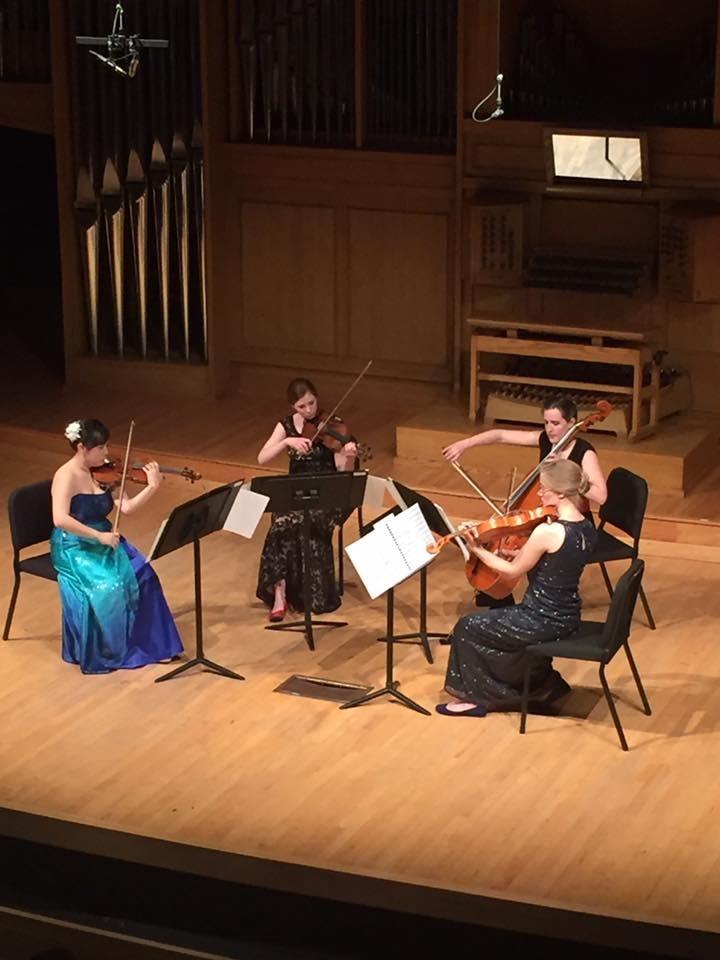 Graduate String Quartet pictured