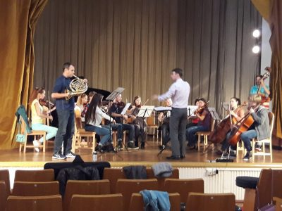 Right off the plane and into the first rehearsal of the Forster Concerto.