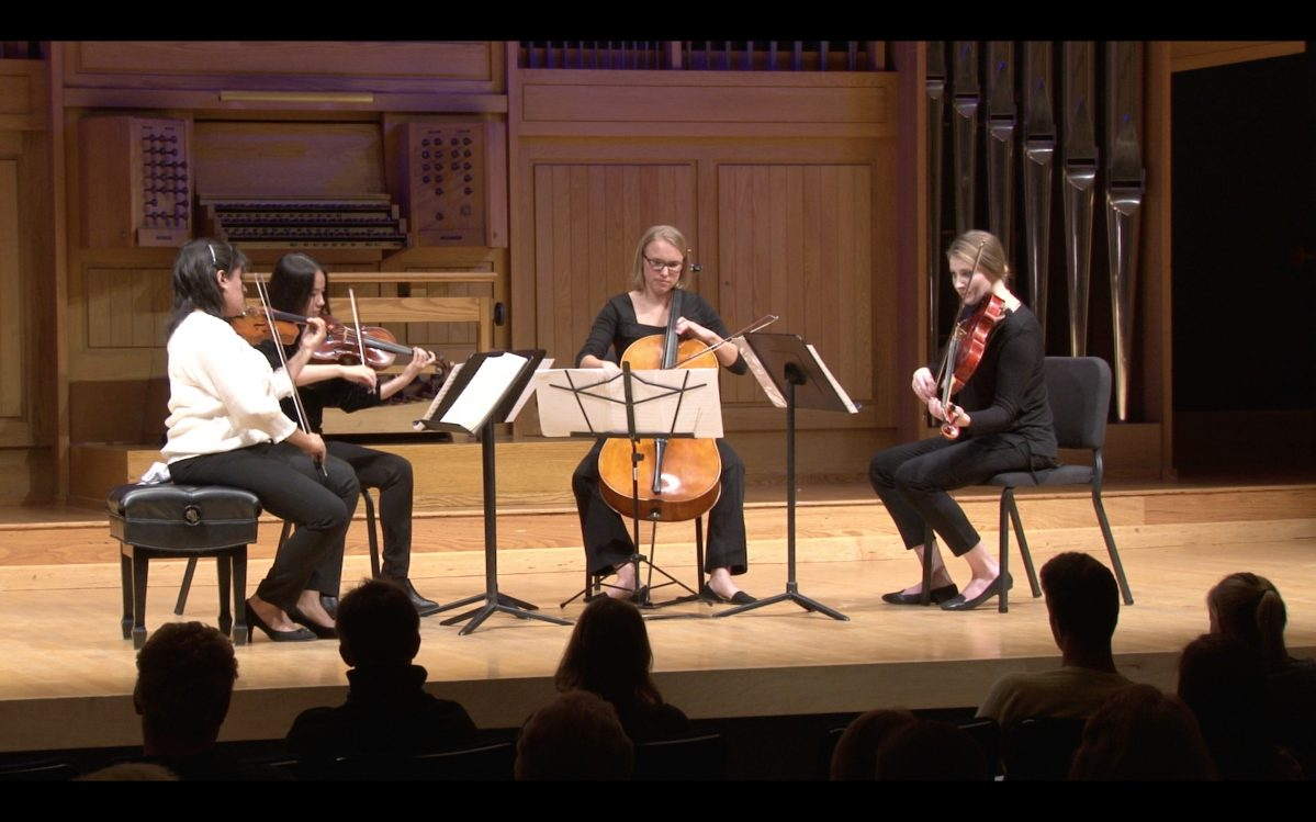 Polaris String Quartet performance photo