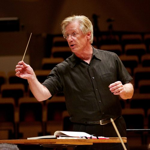 Wes Kenney pictured conducting a rehearsal