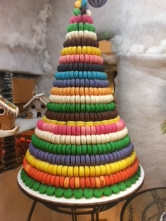Christmas tree made of candy