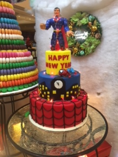 Happy New Year Superman cake