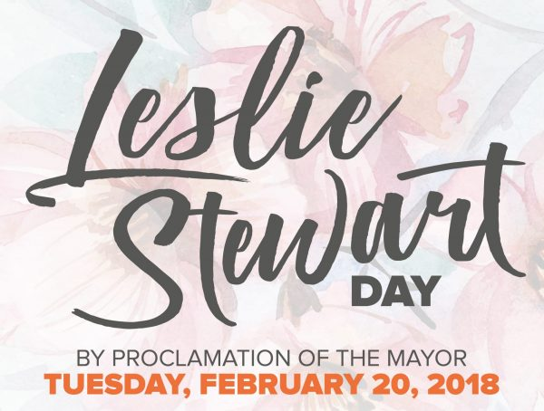 An image promoting Leslie Stewart Day
