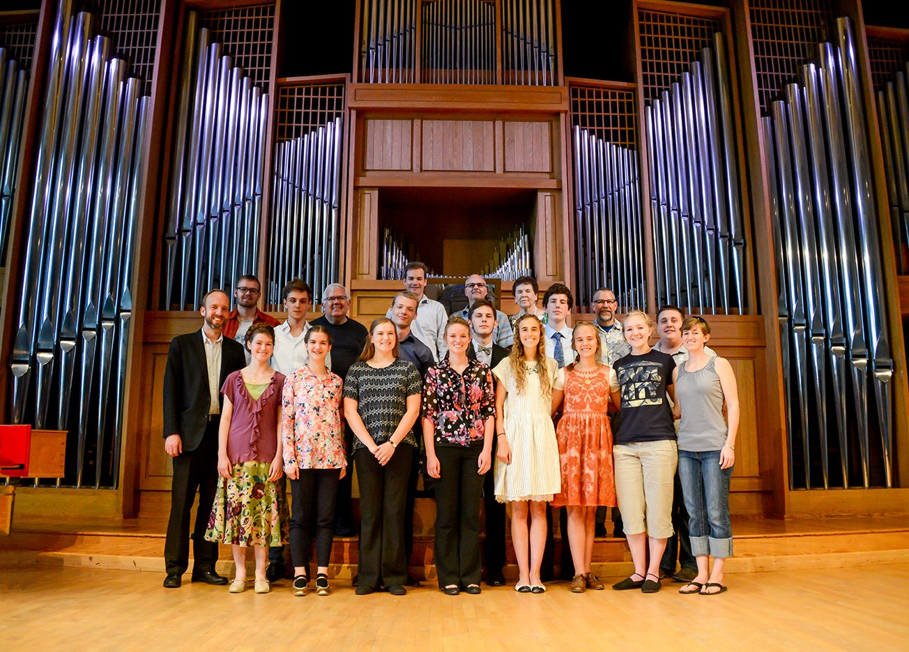 2016 Organ Week students group photo