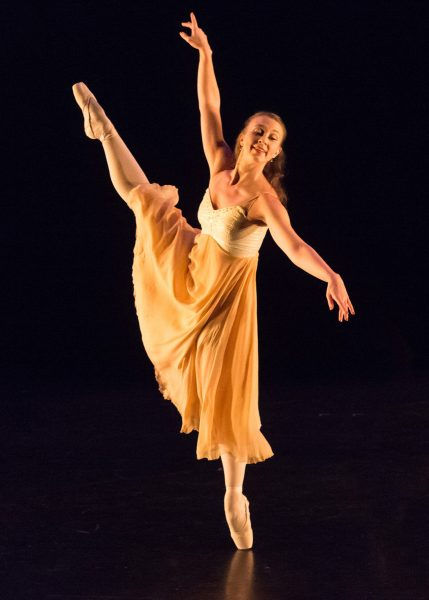 CSU Dance Professor Madeline Harvey performing in the Fall 2017 Dance Concert