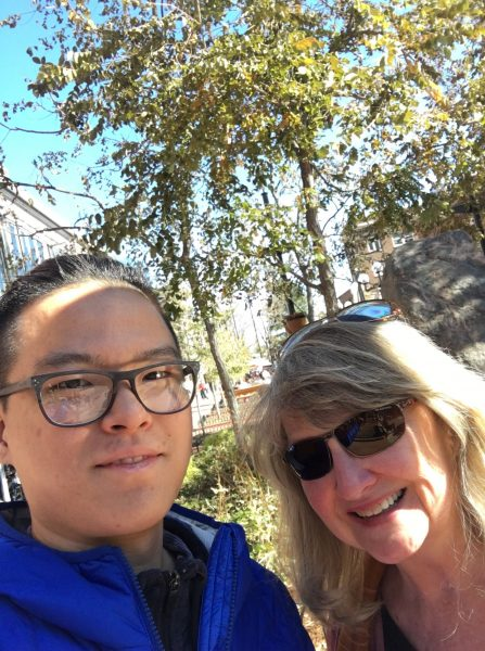 Second Zhou with professor Janet Landreth