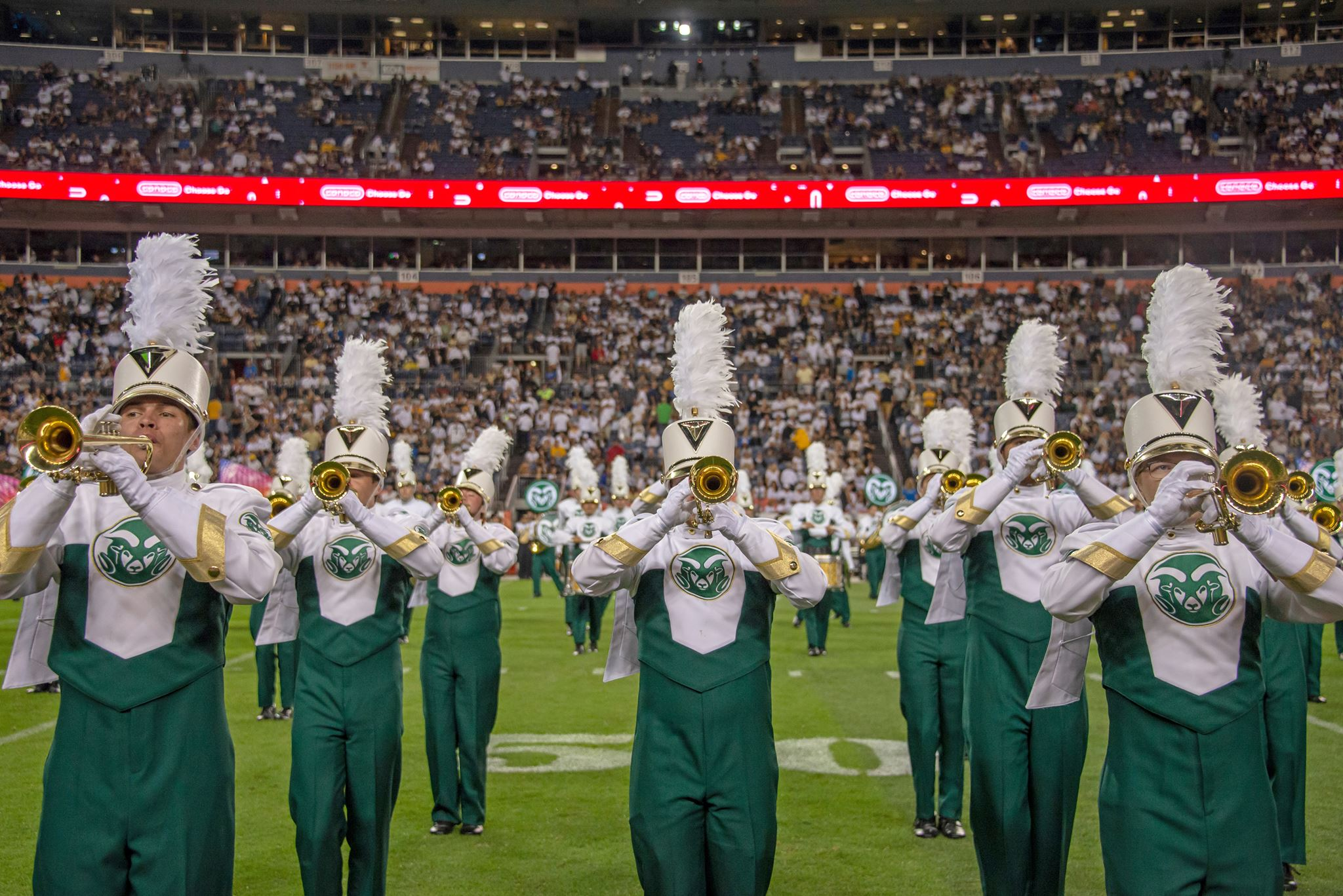 CSU Marching Band trumpets