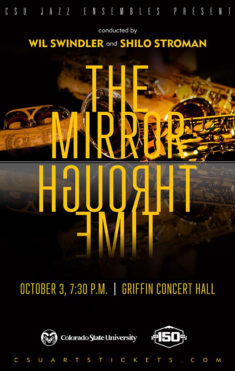 CSU Jazz Ensemble 2019 the Mirror Through Time promotional poster
