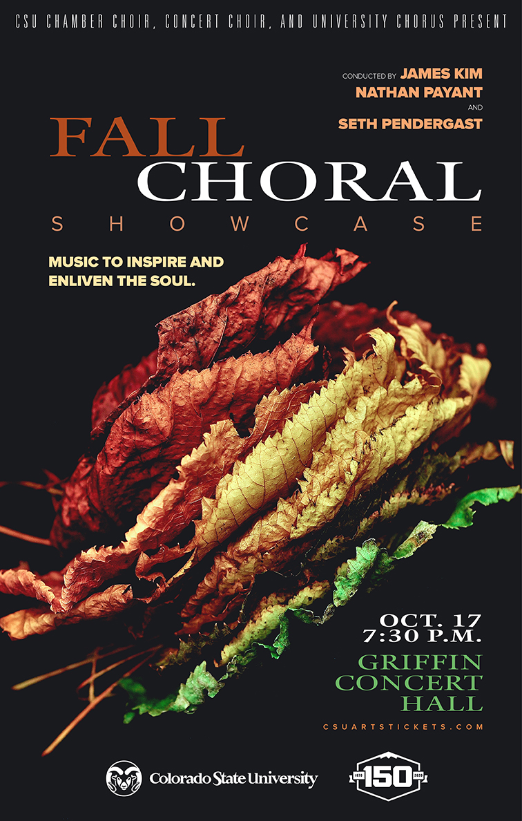 Fall Choral Showcase promotional poster