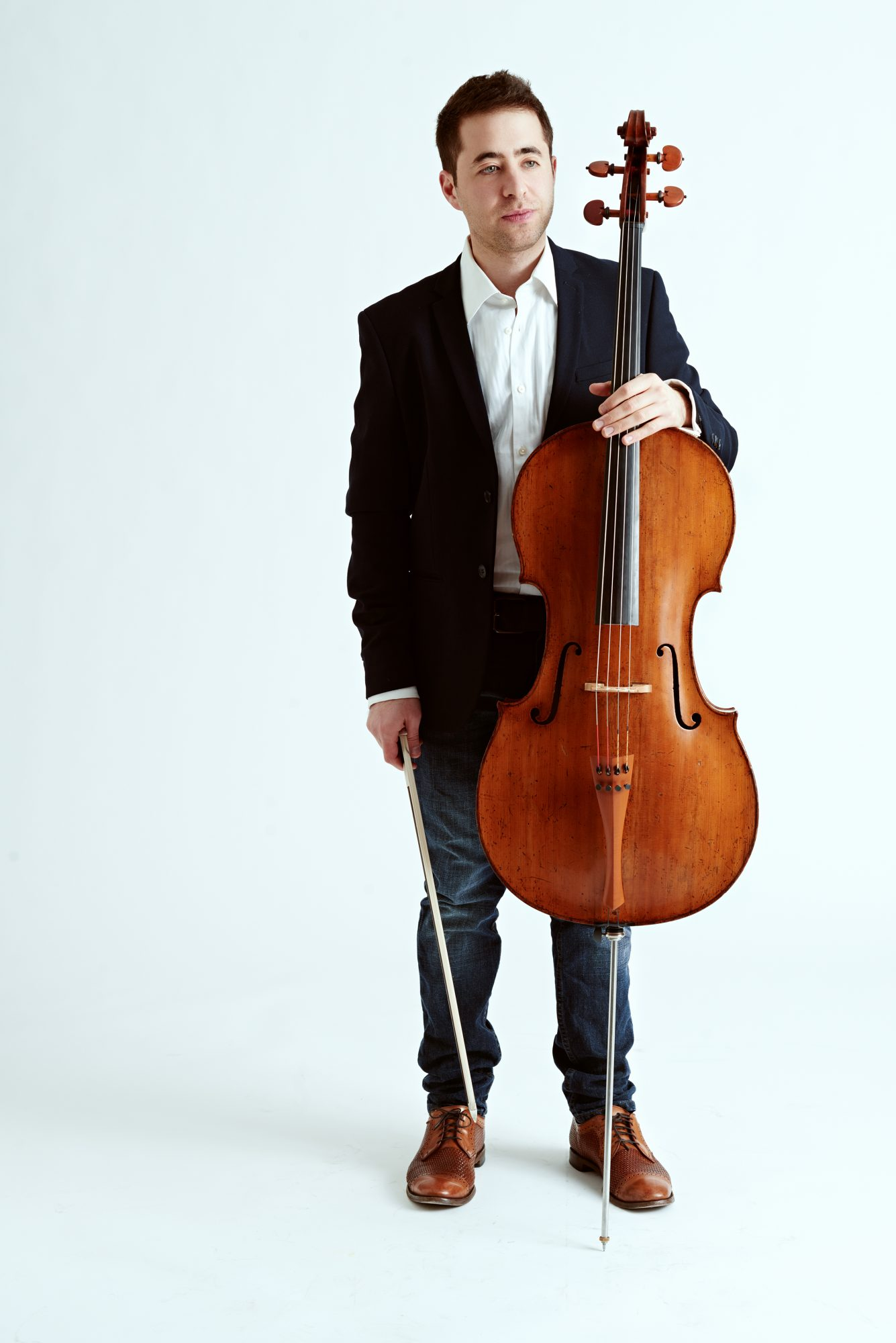 Matthew Zalkind promotional photo - pictured with a cello