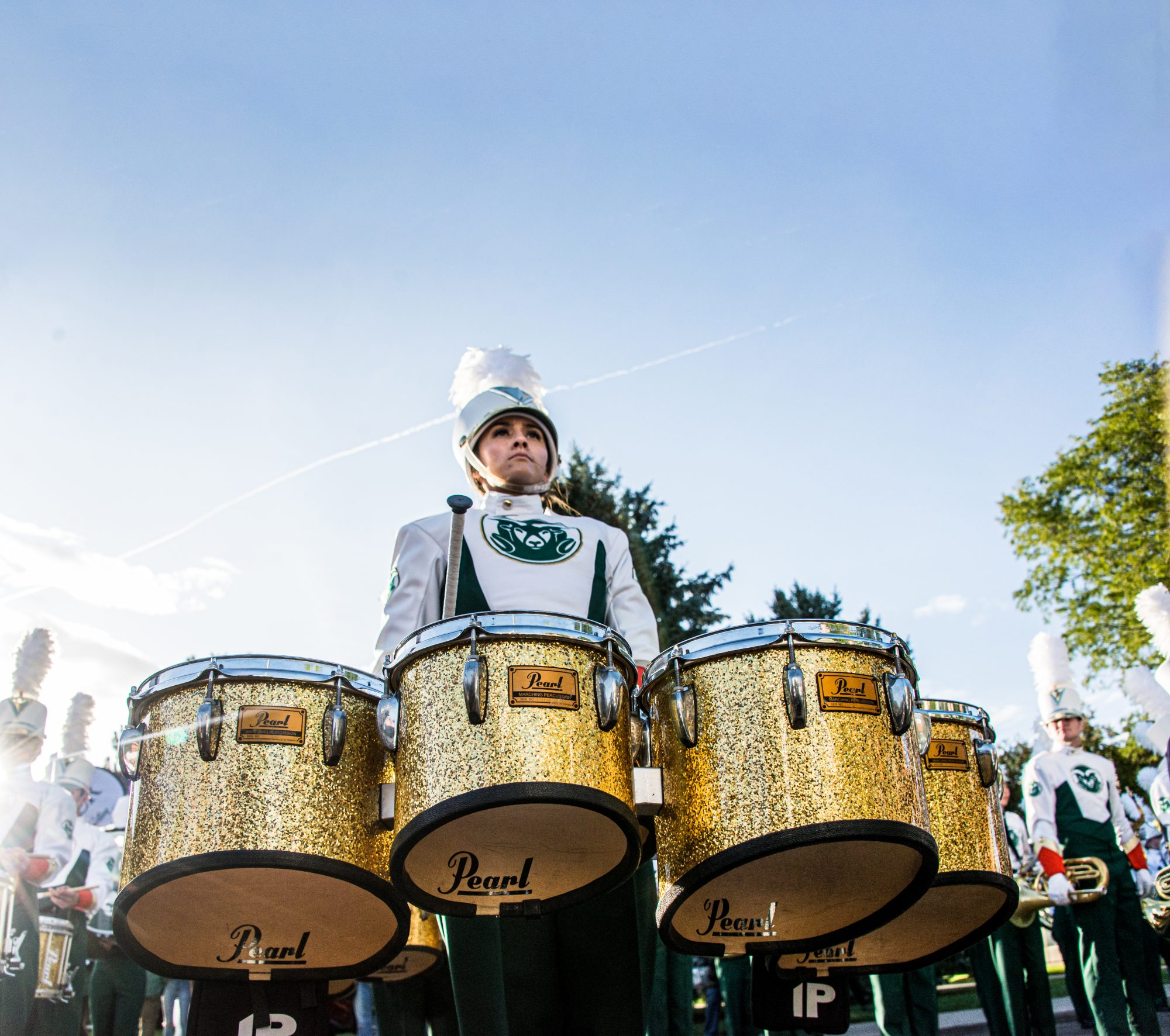 CSU Marching Band drummer pictured
