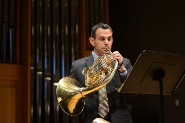 John McGuire Playing Horn