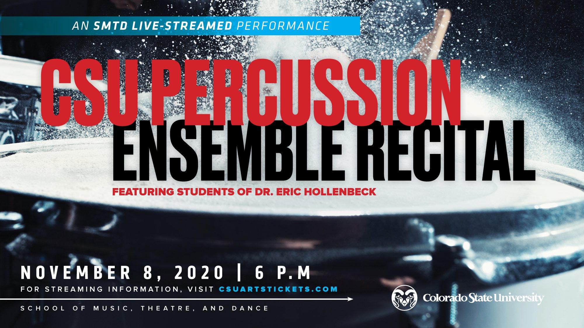 Percussion Ensemble 2020 Recital promotional screen