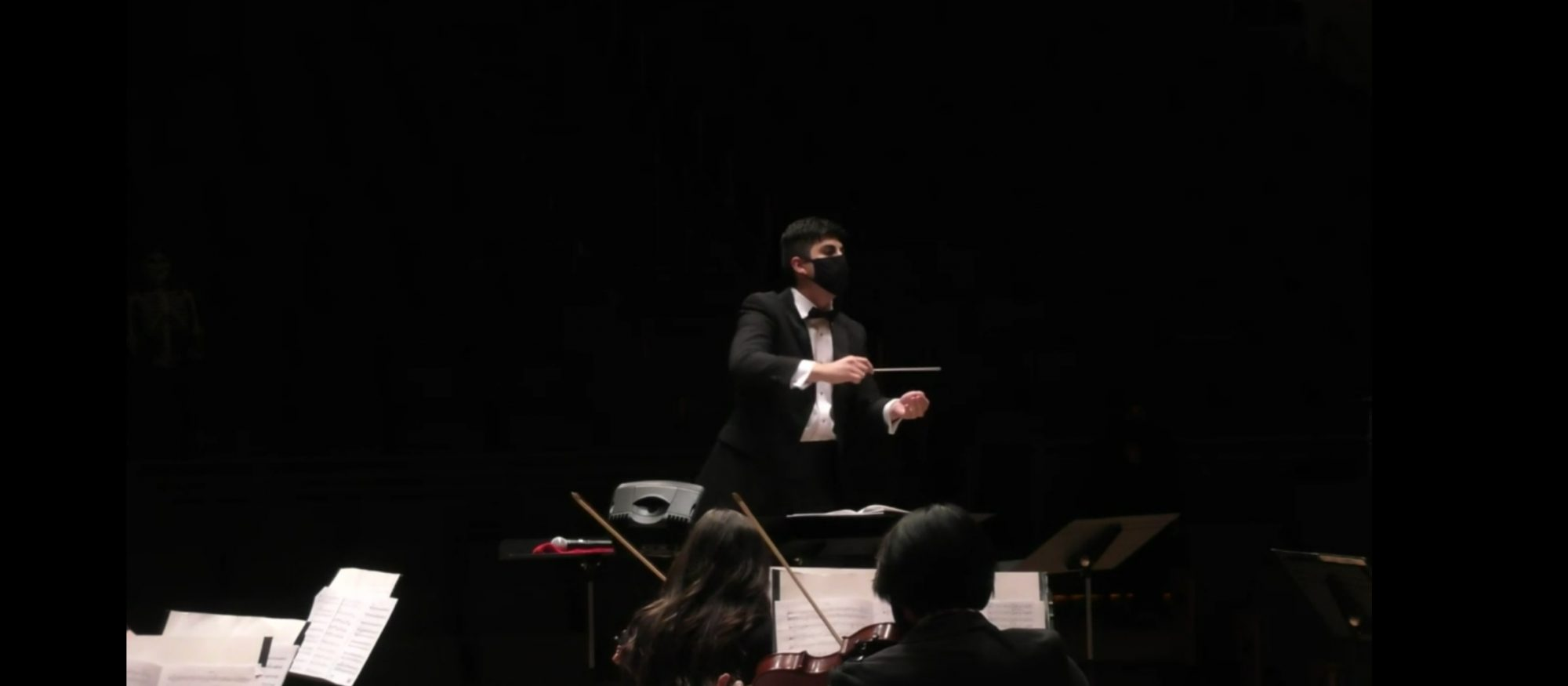 Graduate conducting student pictured