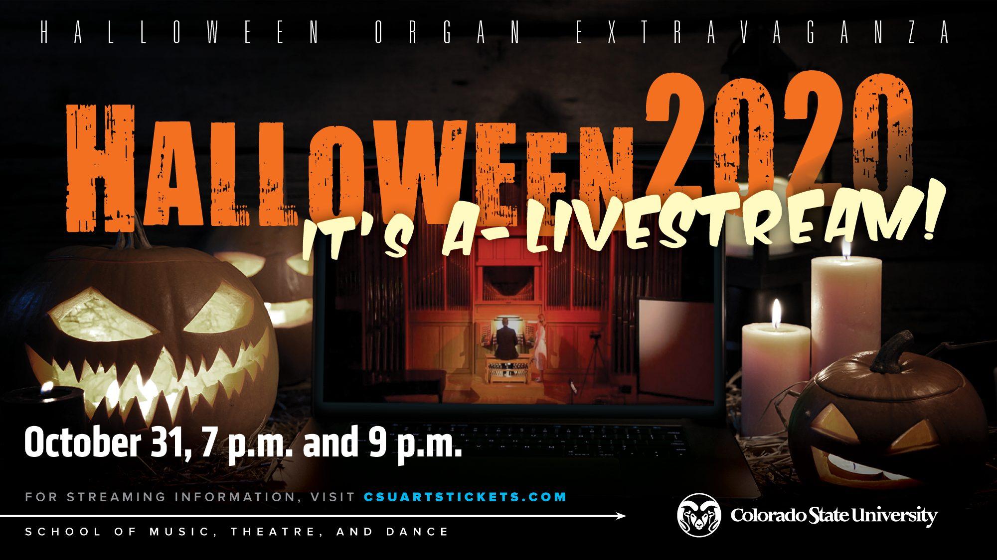 Halloween 2020 In Theaters Near Me LIVESTREAM: Halloween Organ Extravaganza   Music