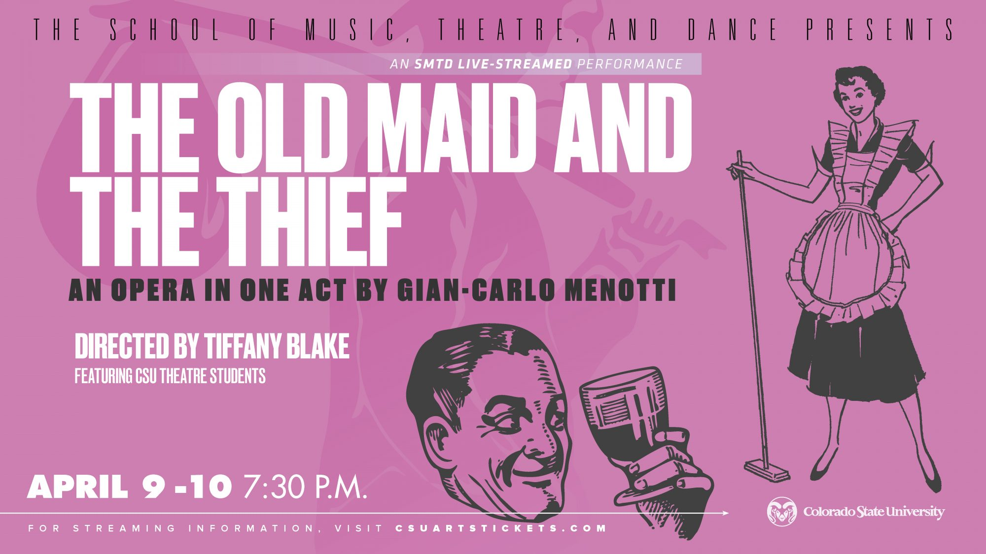 STREAM: The Old Maid and the Thief by Gian-Carlo Menotti